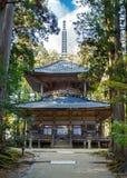 Saito (western Stupa) at Danjo Garan Temple in Koyasan area in Wakayama Stock Photos