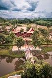 Saiyokdistrict, Kanchanaburi-provincie, Thailand op 9,2017 Juli: Meningen van Stadstoren van Mallika City, 1905 A D Stad van cult royalty-vrije stock foto