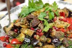 Saj kebab on a plate Stock Photos