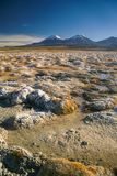 Sajama. Scenic view of bolivian volcanoes, highest peaks in Sajama national park in Bolivia Royalty Free Stock Image