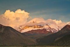 sajama vulkan Royaltyfri Bild