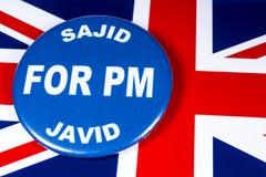 Sajid Javid para el primer ministro imágenes de archivo libres de regalías