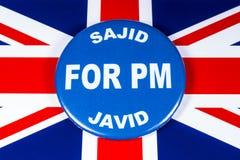 Sajid Javid para el primer ministro imagen de archivo libre de regalías