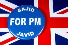 Sajid Javid para el primer ministro fotografía de archivo