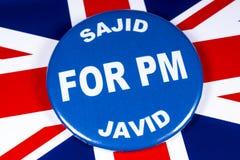 Sajid Javid para el primer ministro imagen de archivo