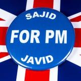 Sajid Javid para el primer ministro fotos de archivo
