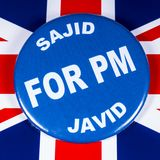 Sajid Javid para el primer ministro fotografía de archivo libre de regalías