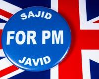 Sajid Javid para el primer ministro fotos de archivo libres de regalías