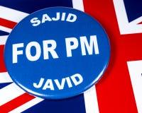 Sajid Javid para el primer ministro imagenes de archivo