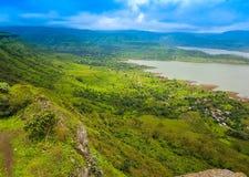 Sajjangad -Maharashtra- India. Beautiful view from the top of the mountain Stock Photography
