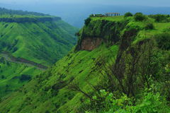 Sajjangad mountain scene Stock Image