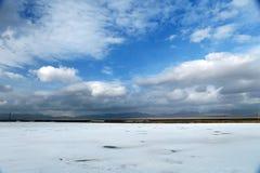Saka盐湖风景  图库摄影