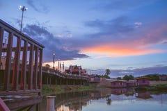 Sakae Krang river at twilight time Stock Photography