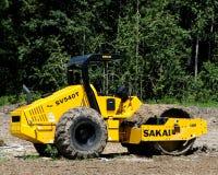Sakai SV540T, Asphalt Roller. A Sakai SV540T asphalt roller in the field Stock Image
