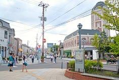 Sakaimachi街在小樽,北海道,日本 图库摄影