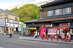 Sakaimachi街,小樽,日本 免版税库存图片