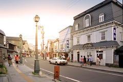 Sakaimachi gata i Otaru, Hokkaido, Japan Fotografering för Bildbyråer