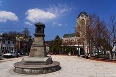 Sakaimachi Street in Otaru. OTARU, JAPAN - APRIL 21, 2016:  Antique monument and buildings at Sakaimachi Street. Here is the preserved merchant street of Otaru Stock Photo