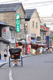 Sakaimachistraat in Otaru, Hokkaido, Japan Stock Afbeeldingen