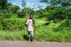 Sakalava man with a machete Stock Images
