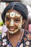 Sakalava piękna maska Fotografia Royalty Free