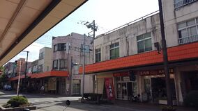 Tourist is traveling in Sakata town, a small town in Tohoku, Japan.
