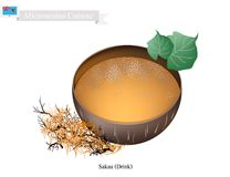 Sakau Drink or Traditional Micronesian Herbal Beverage Stock Images