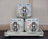 Sake barrels Royalty Free Stock Images