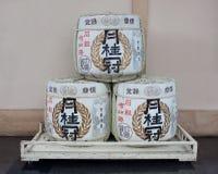 Sake barrels royalty free stock images