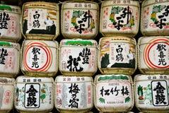 Sake barrels in Japan Stock Photography
