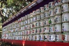 Sake barrels in Tokyo Stock Image