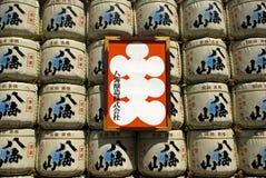 Sake barrels, Tokyo, Japan Stock Photo