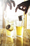 Sake Bomb Royalty Free Stock Photo