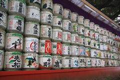 Sake casks Stock Image
