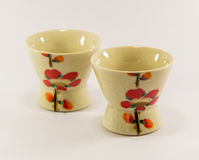 Sake cup. In white backgound Stock Photos