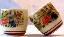 Sake cups Stock Photo