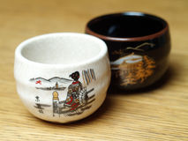 Sake cups Royalty Free Stock Images