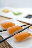 Sake Nigiri Sushi Royalty Free Stock Photo