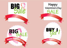 Sake promotion coupon or tag Valentine's Day Stock Photography