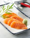 Sake sashimi royalty free stock photography