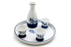 Sake serving set Stock Photos