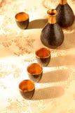 Sake set. Japanese sake set Royalty Free Stock Images