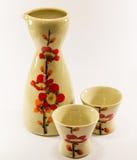 Sake set. In white backgound Royalty Free Stock Images