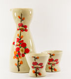 Sake set. In white backgound Stock Images