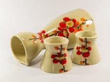 Sake set. In white backgound Stock Photo