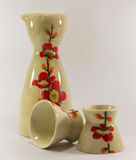 Sake set. In white backgound Stock Image