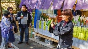Sake Stall at Kinkaku-ji Temple in Kyoto Royalty Free Stock Photo