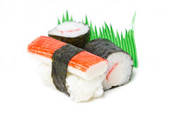 Sake Sushi And Maki Sushi. Stock Photos