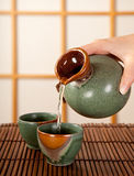 Sake for two royalty free stock photography
