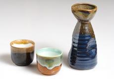 sake zestaw Obraz Stock